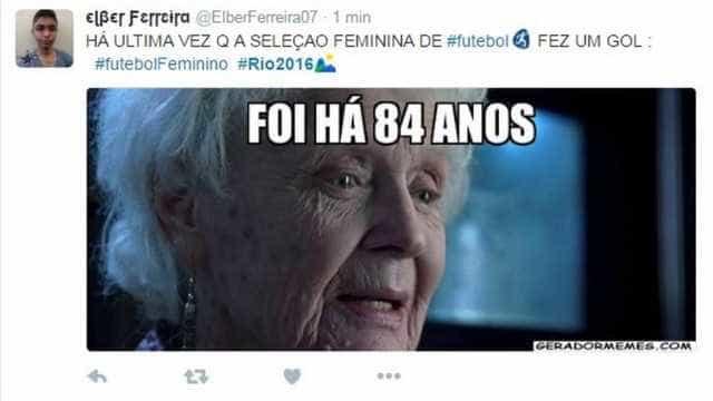 Rio-2016: seleção feminina perde e internet se enche de memes
