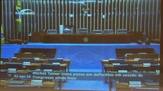 Ato falho:  TV Senado 'antecipa' posse de Michel Temer