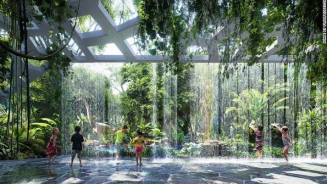 Hotel em Dubai terá floresta tropical  artificial com cachoeiras