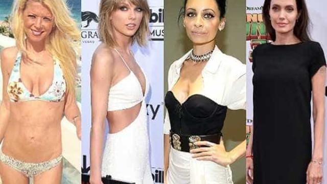 As celebridades que ficaram muito magras e assustaram os fãs