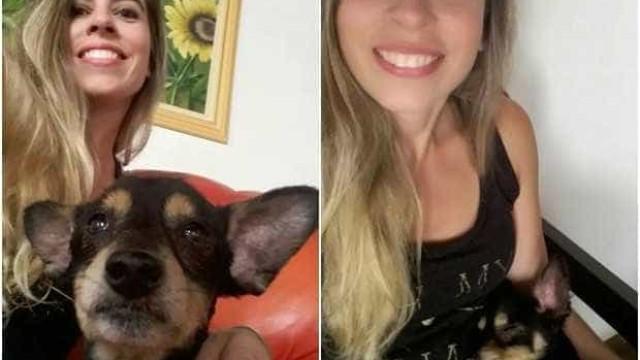 Mulher acha cão perdido há 6 anos após ver foto na rede social