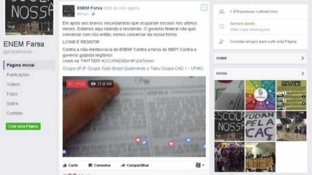 Transmissão ao vivo de prova do Enem é falsa, confirma Inep