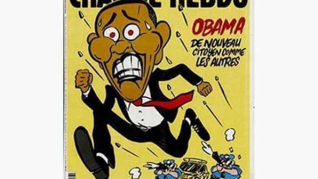 'Charlie Hebdo' ironiza fim da era Obama e violência racial