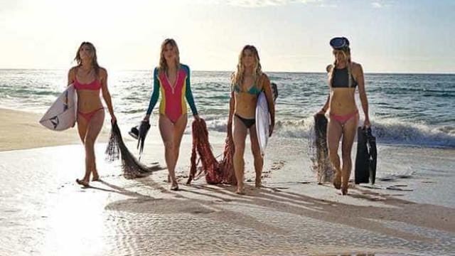 Empresa lança linha de roupas de banho feita com plástico dos oceanos