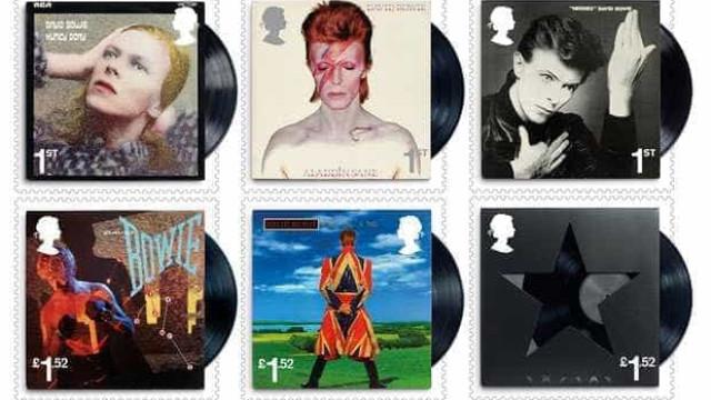 """David Bowie """"transformado""""  em dez selos pelo Royal Mail"""
