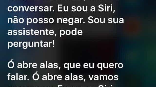 Perguntada se gosta de carnaval,  Siri cai no samba; veja vídeo