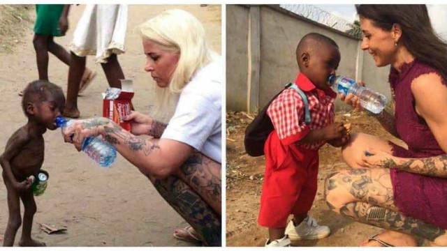Um ano depois, menino de foto que chocou  o mundo reaparece recuperado