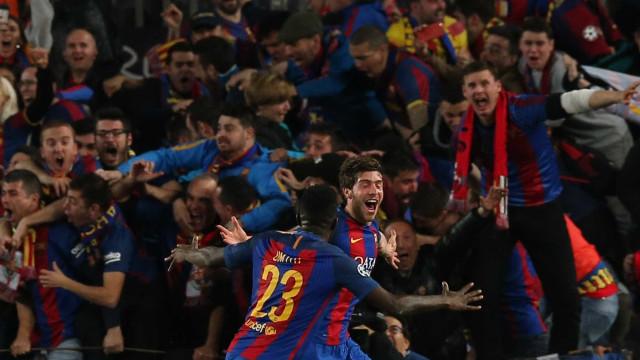 Barça elimina PSG com  virada histórica na Champions