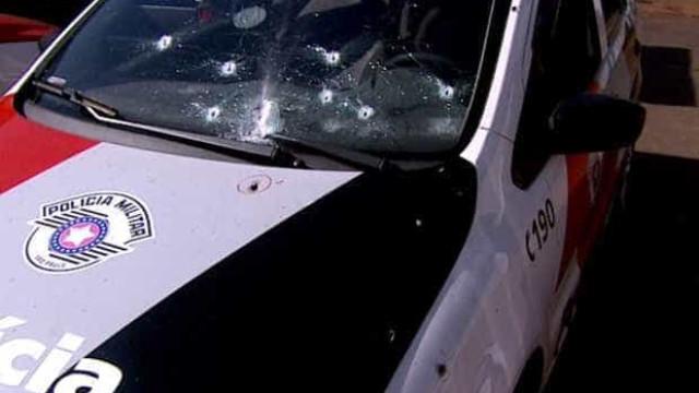 Viatura de PM morto após roubo de carro-forte foi atingida por 26 tiros