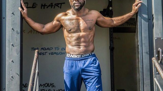 Kevin Hart mostra os resultados de dois anos de treinos físicos