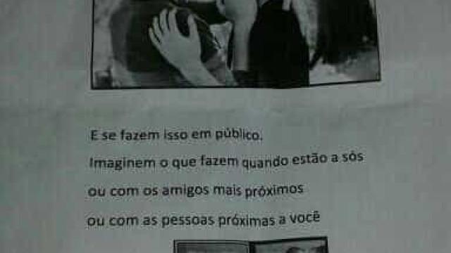 Casal é alvo de panfletos homofóbicos em Curitiba