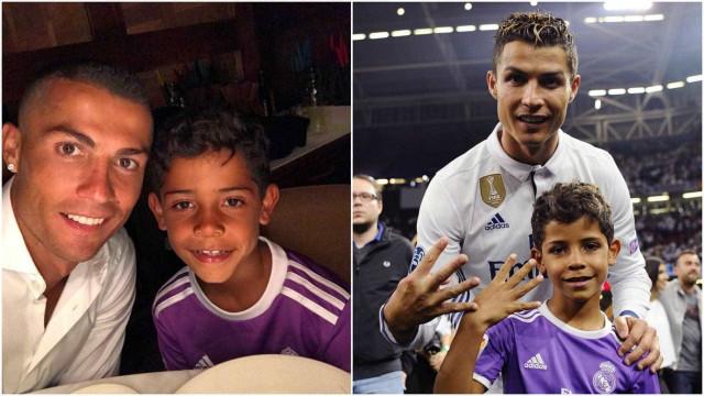 Filho de Cristiano Ronaldo deu show na final da Liga dos Campeões