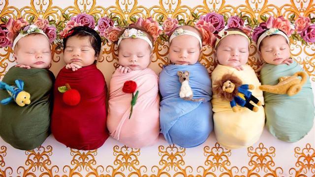 Bebês: essas pequeninas mal nasceram e já são princesas!
