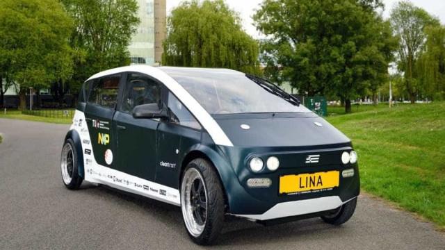 Estudantes criam carro biodegradável  feito de beterraba e linho