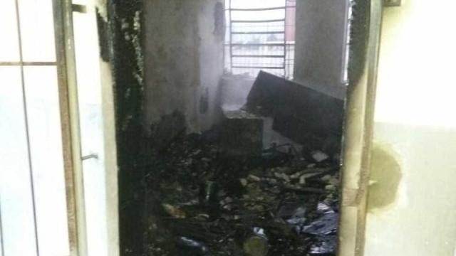 Incêndio atinge escola em Joinville