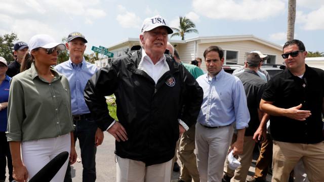 Trump visita Flórida e elogia trabalho de equipes por 'Irma'