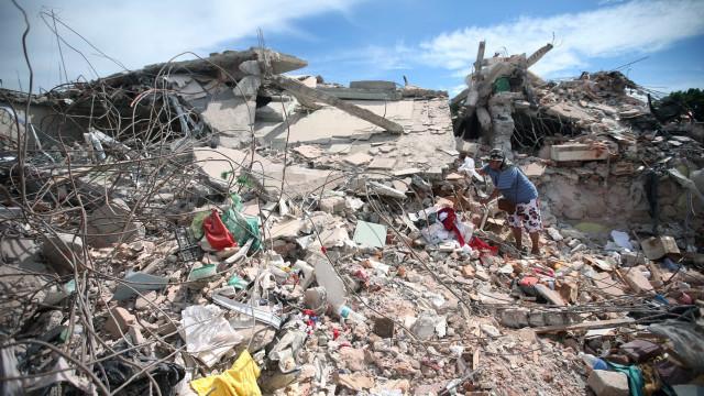 Cidade próxima a epicentro ruiu com tremor no México