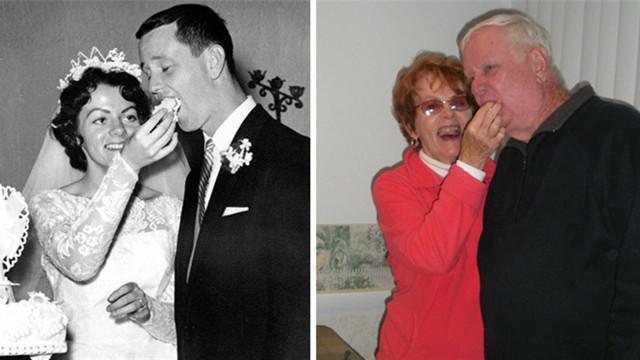 Antes e depois: casais mostram que o amor perdura por anos