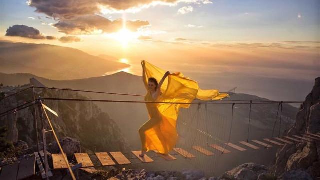 Os vestidos que viajam o mundo; fotos