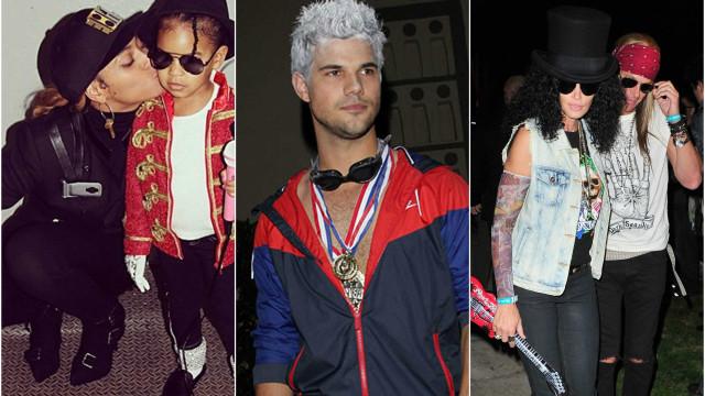 Famosos se inspiram em outras celebridades para fantasias
