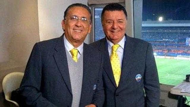 Galvão e Arnaldo protagonizam 'climão' em transmissão da Copa do Brasil