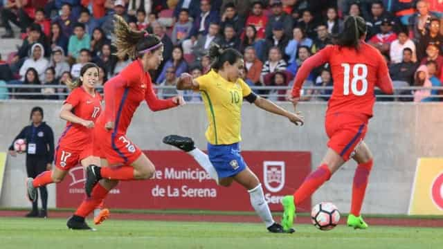 Seleção vence amistoso contra o Chile por 3 a 0