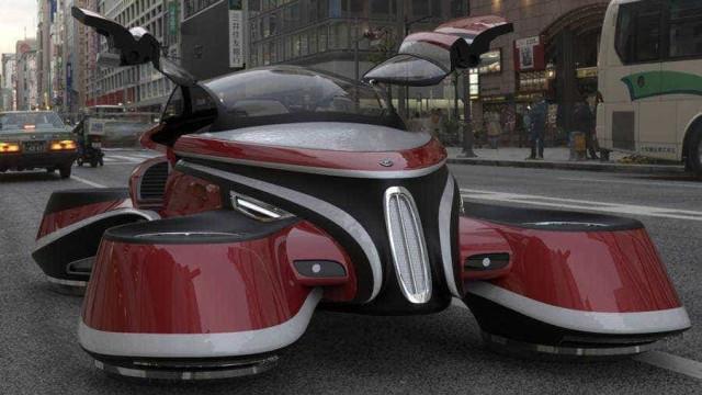 Carro voador Hover Coupe combina passado e futuro