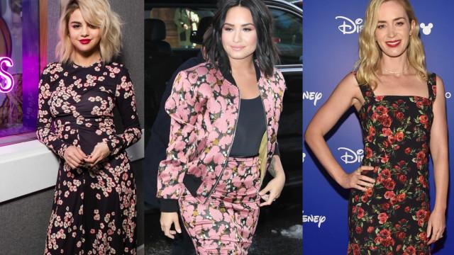 Tendência: o estilo floral das celebridades