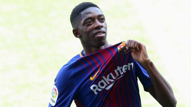Com lesão muscular, Dembelé desfalcará Barcelona por até 4 semanas