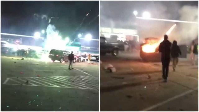 Fogos de artifício explodem dentro de carro no Texas