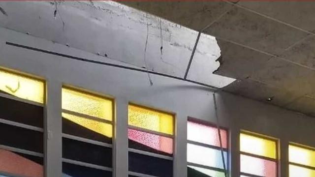 Homem cai de teto de igreja em SC e fica gravemente ferido