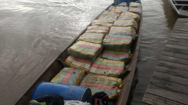 Colombiano é preso no AM com 1,8 tonelada de maconha