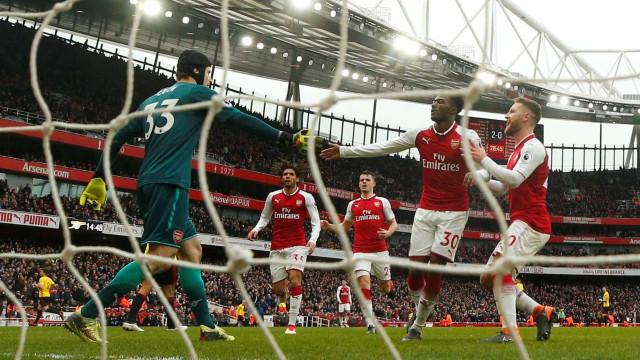 Arsenal bate o Watford e volta a vencer no Campeonato Inglês
