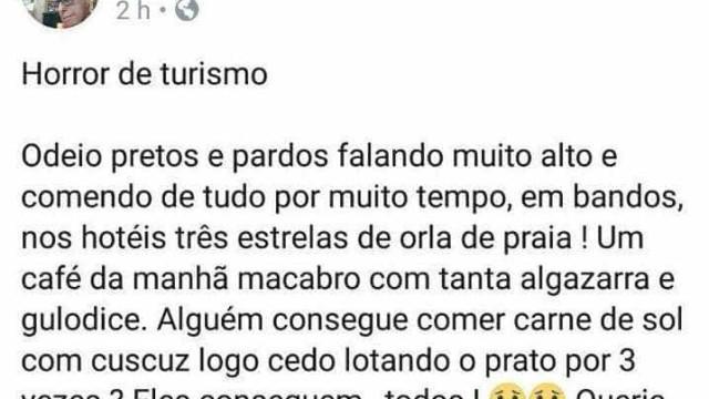 Professor de São Paulo é denunciado por comentário racista