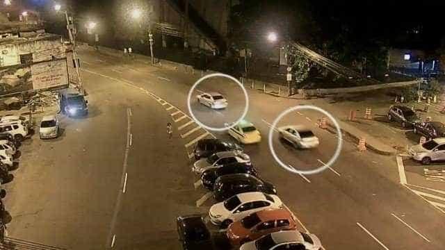 Câmera registra momento em que dois carros seguem Marielle