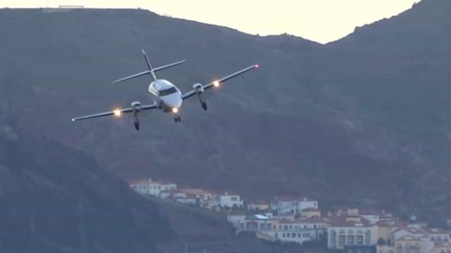 Tempestades dificultam aterrissagens na Madeira, em Portugal