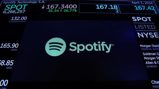 Spotify transforma dois novos bilionários em estreia em Wall Street