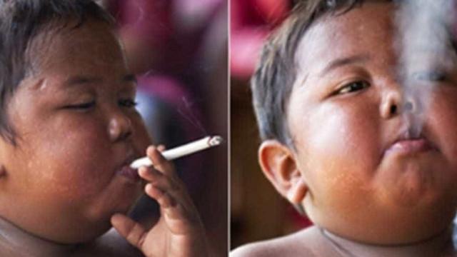 Você lembra do bebê fumante da Indonésia? Veja como ele está