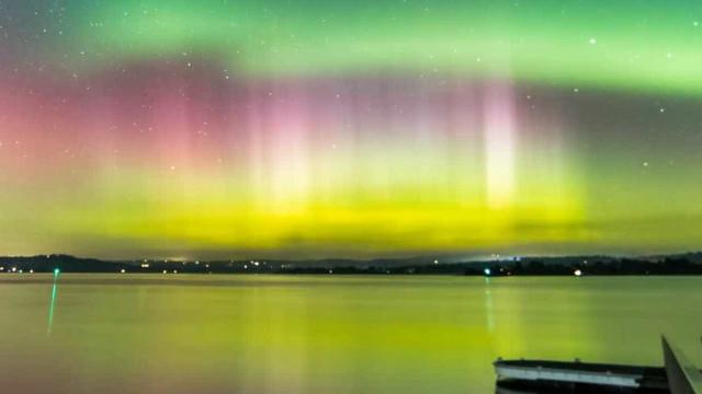 Incrível time-lapse de aurora austral na Tasmânia