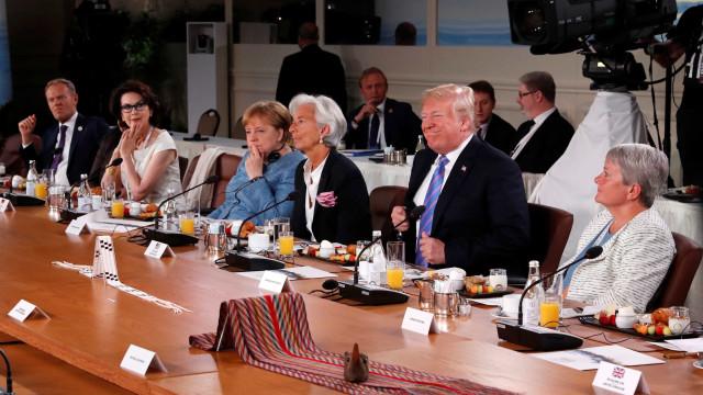 Trump defende livre-comércio em cúpula do G7
