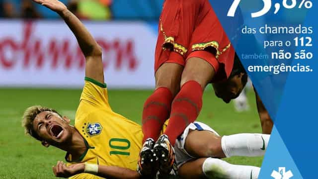 Serviço de urgência português faz piada com Neymar e 'provoca' usuários