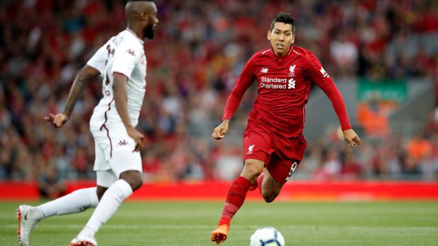 Firmino marca em vitória do Liverpool sobre o Torino
