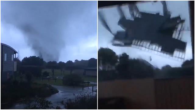 Ciclone arranca telhado e causa pânico na Nova Zelândia