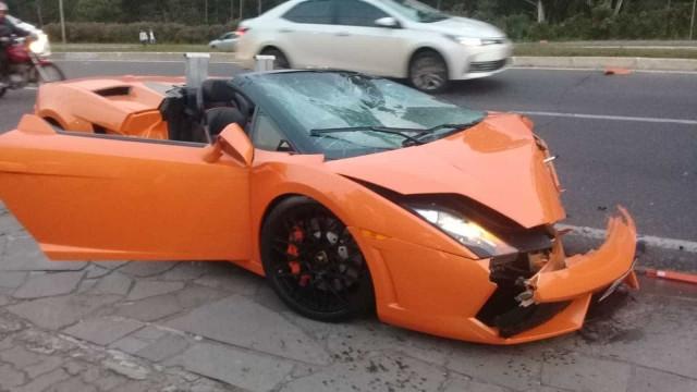 Lamborghini de R$ 700 mil envolvida em acidente não tinha seguro