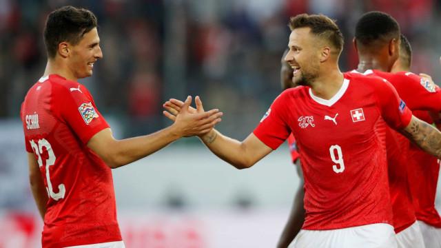 Suíça atropela a Islândia com goleada por 6 a 0 pela Liga das Nações
