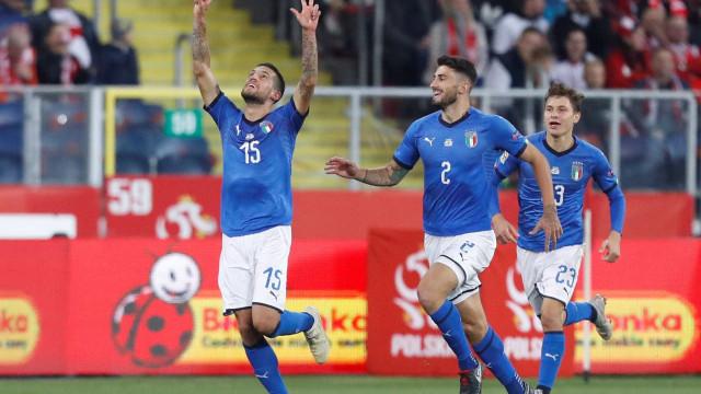 Itália vence Polônia com gol nos acréscimos pela Liga das Nações