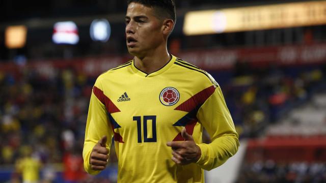 James Rodríguez volta à seleção da Colômbia após 4 meses