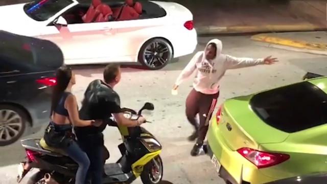 Vídeo mostra chocante tentativa de atropelamento