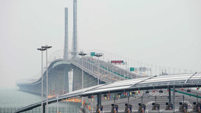 Inaugurada na China, maior ponte marítima do mundo tem 55 Km