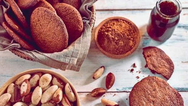 Aprenda a fazer cookies de cacau, amaranto e castanha-do-pará
